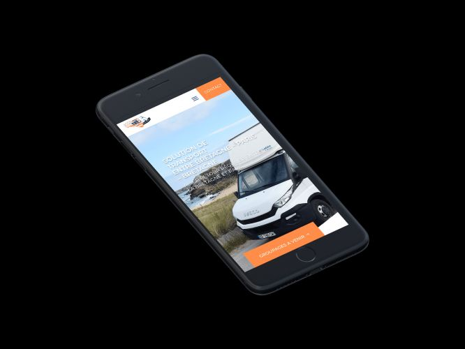 Site internet mobile transport / logistique